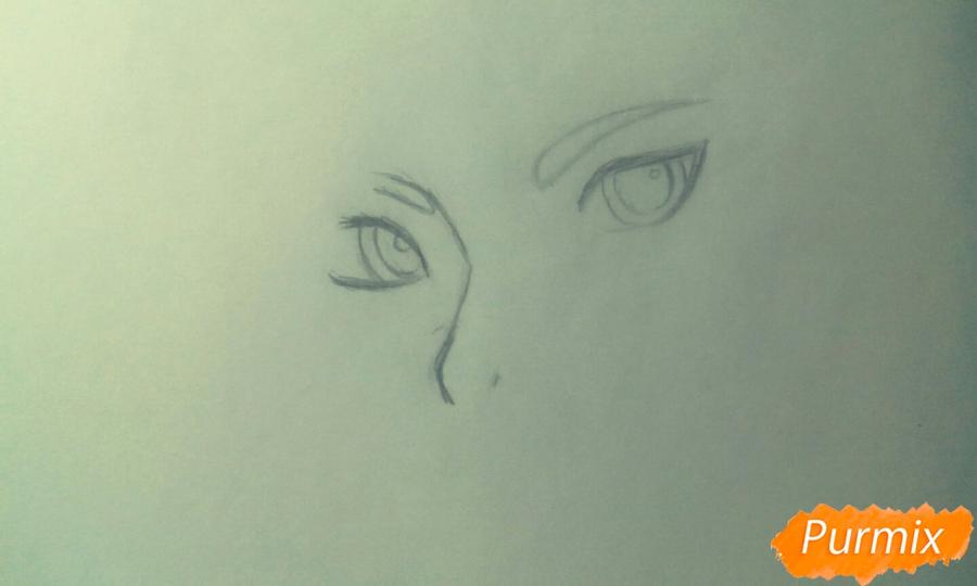 Рисуем персонажа Tracer из игры Overwatch карандашами - шаг 1