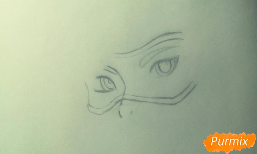 Рисуем персонажа Tracer из игры Overwatch карандашами - шаг 2