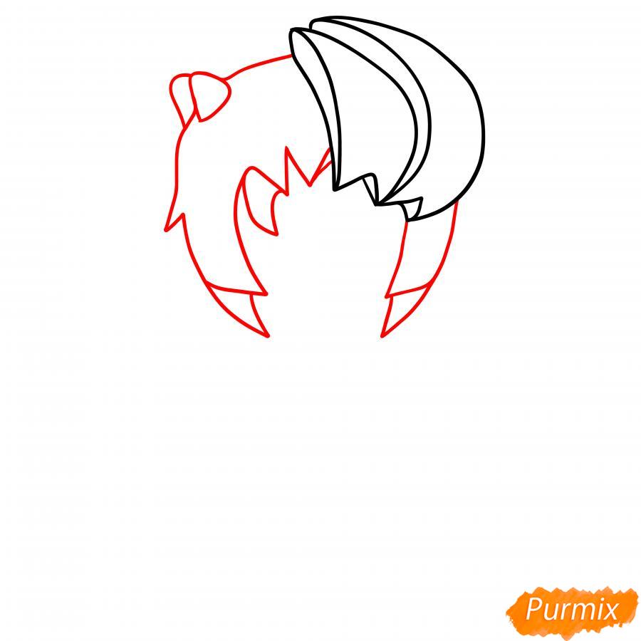 Рисуем Зомби Биби - шаг 2