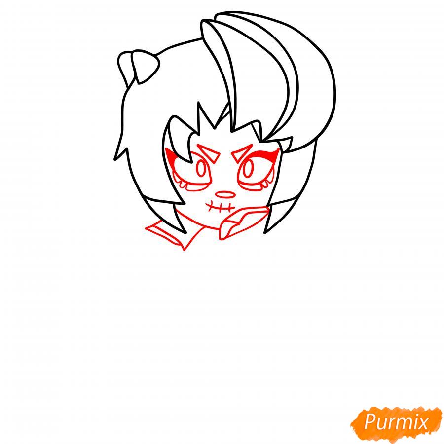 Рисуем Зомби Биби - шаг 3