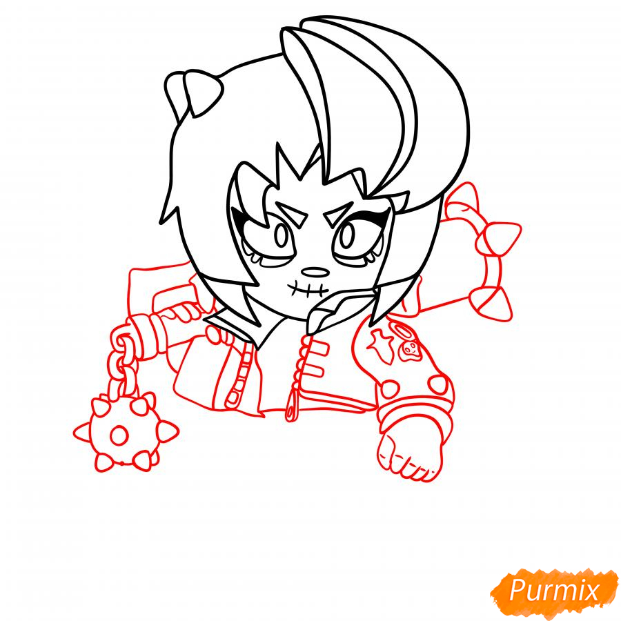 Рисуем Зомби Биби - шаг 4