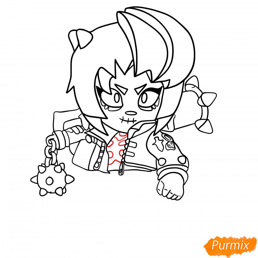 Рисуем Зомби Биби - шаг 5