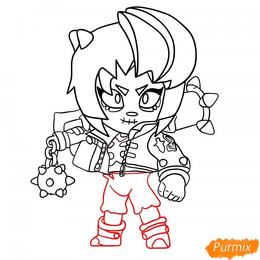 Рисуем Зомби Биби - шаг 6