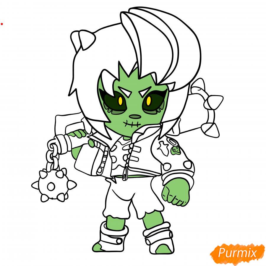 Рисуем Зомби Биби - шаг 8