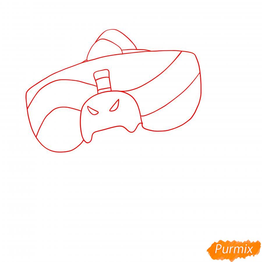 Рисуем Базза из Бравл Старс - шаг 1