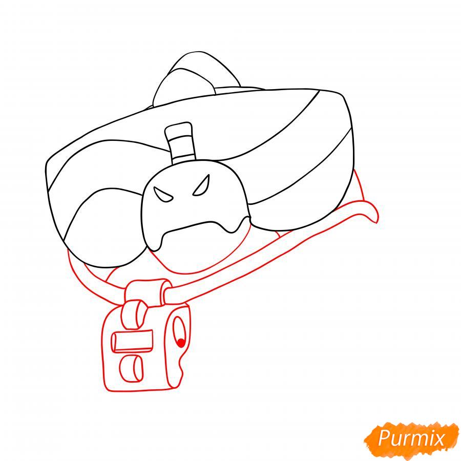Рисуем Базза из Бравл Старс - шаг 2