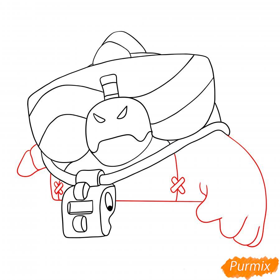 Рисуем Базза из Бравл Старс - шаг 3