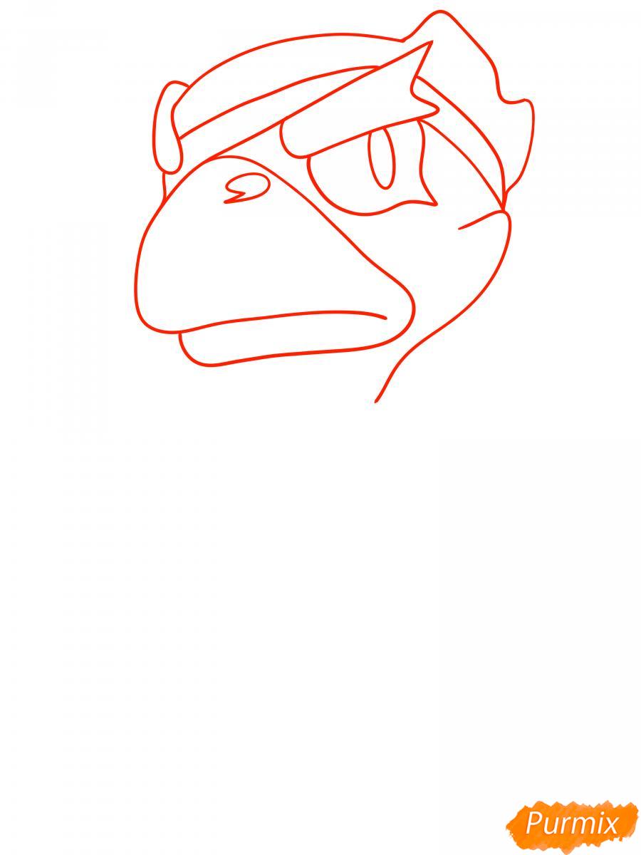 Рисуем белого Ворона из Brawl Stars - шаг 1
