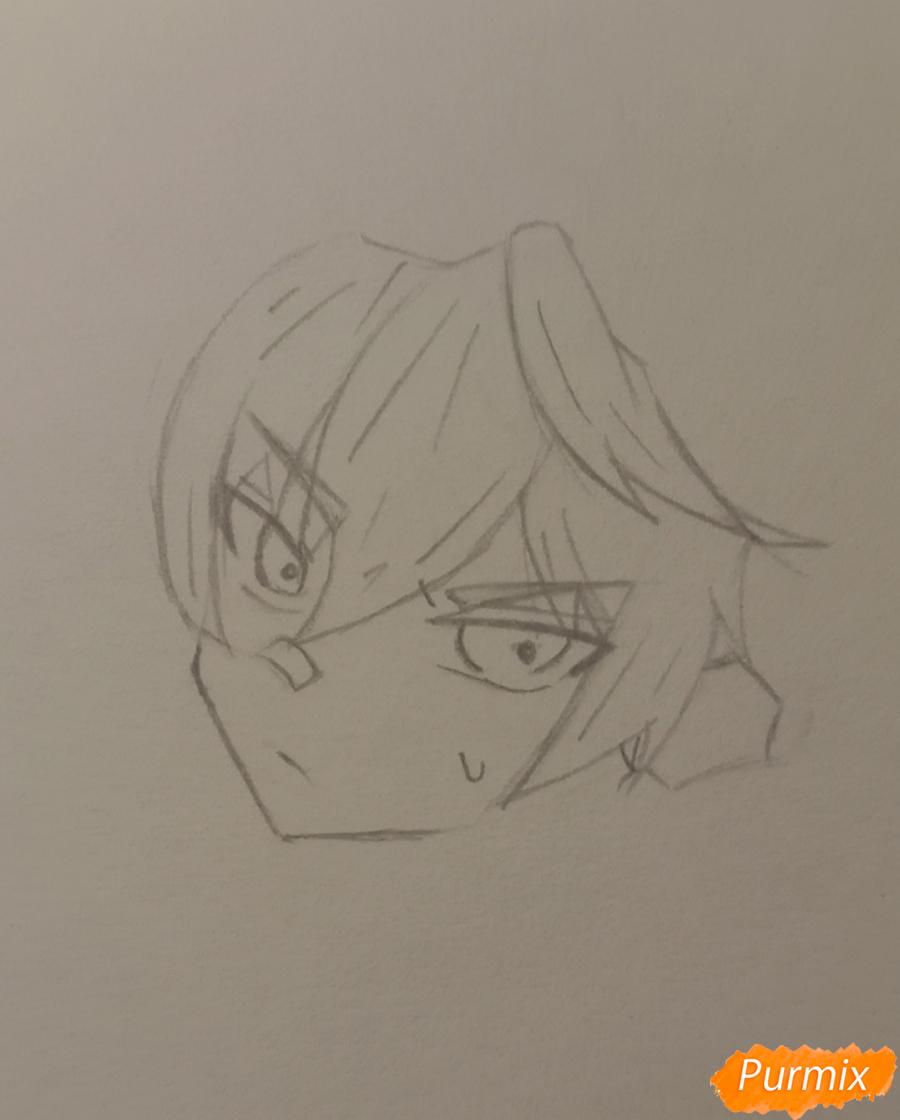 Рисуем Беннета из игры Genshin Impact - шаг 2