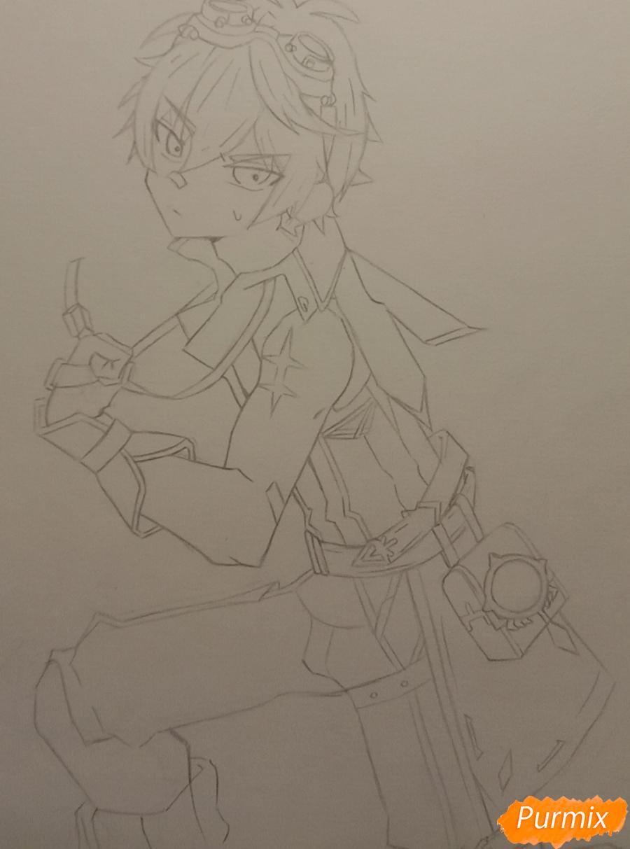 Рисуем Беннета из игры Genshin Impact - шаг 5