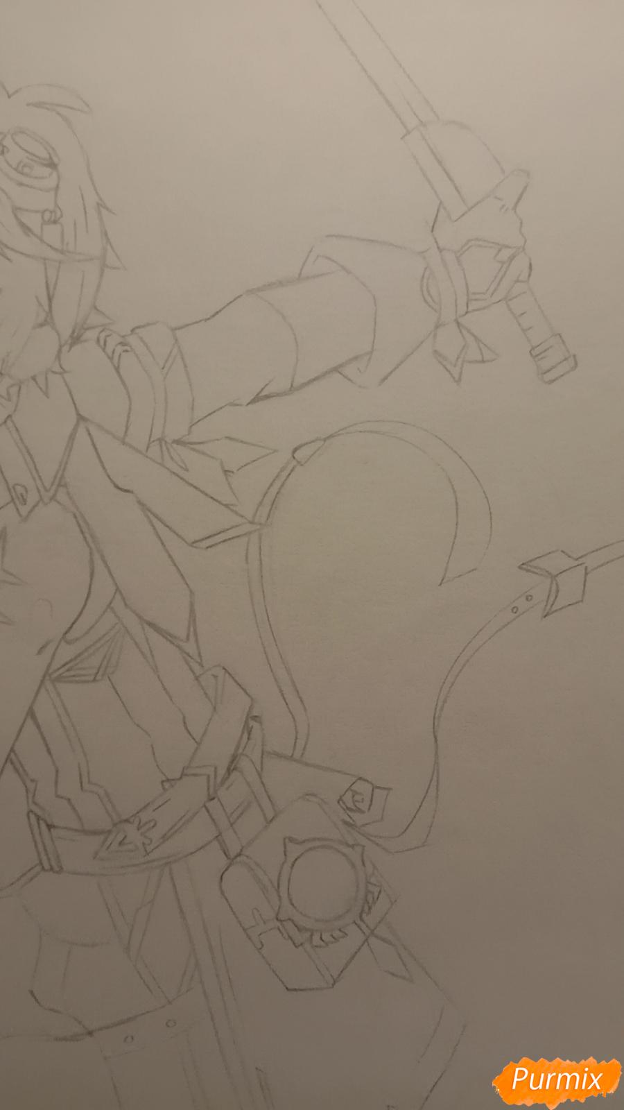 Рисуем Беннета из игры Genshin Impact - шаг 6