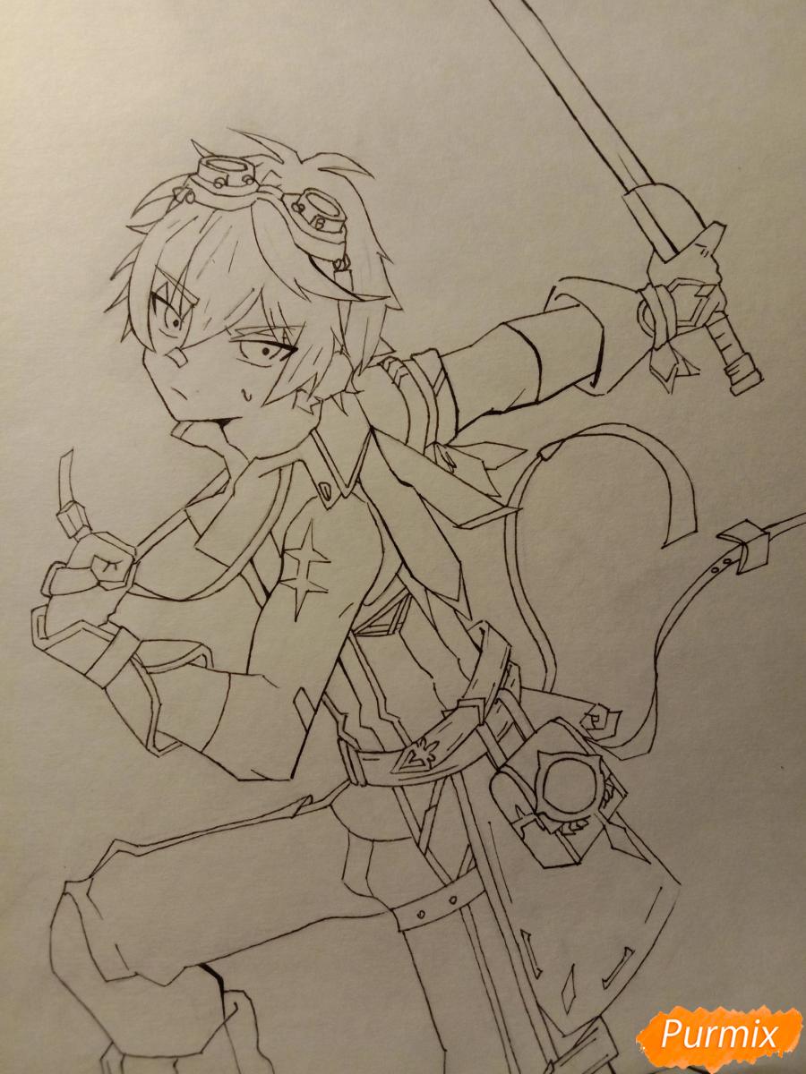 Рисуем Беннета из игры Genshin Impact - шаг 7