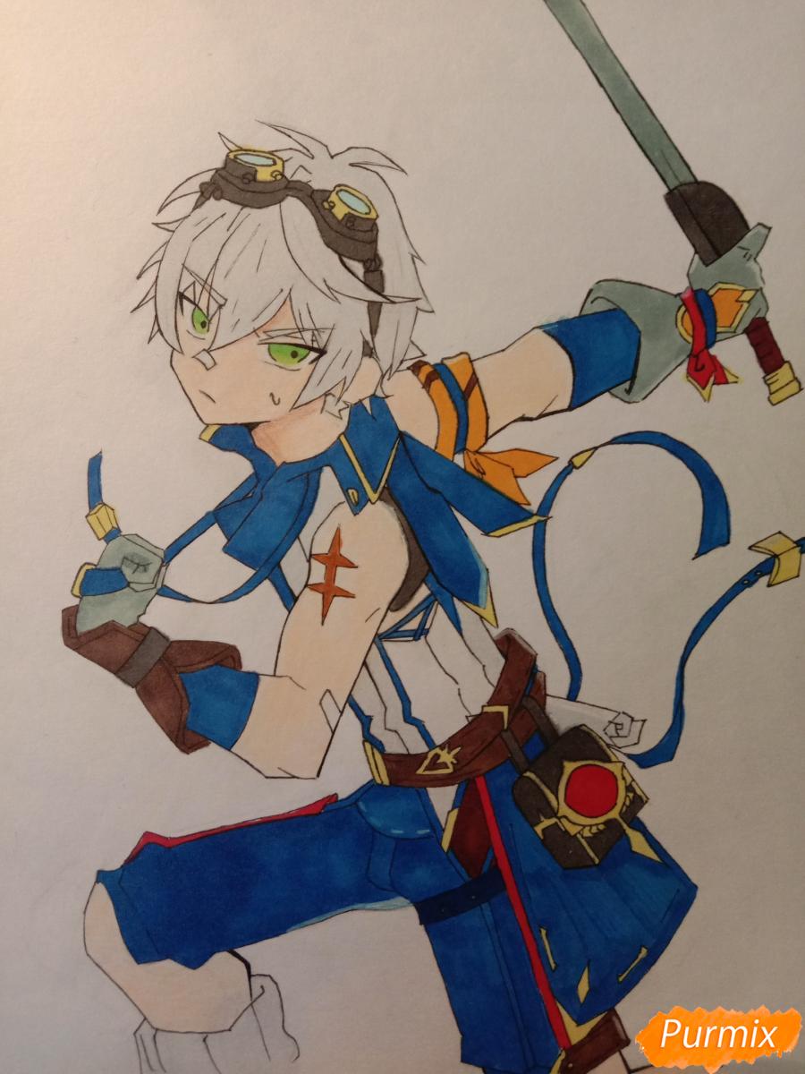 Рисуем Беннета из игры Genshin Impact - шаг 8