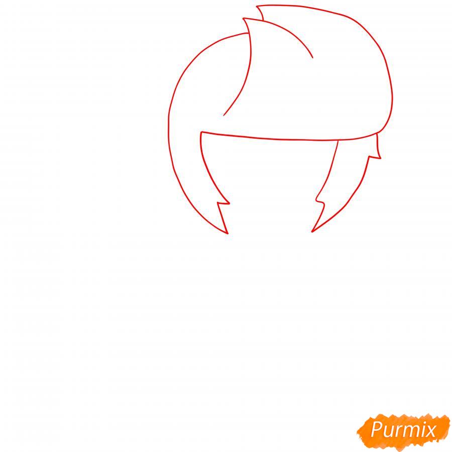 Рисуем БиБи из Бравл Старс - шаг 1