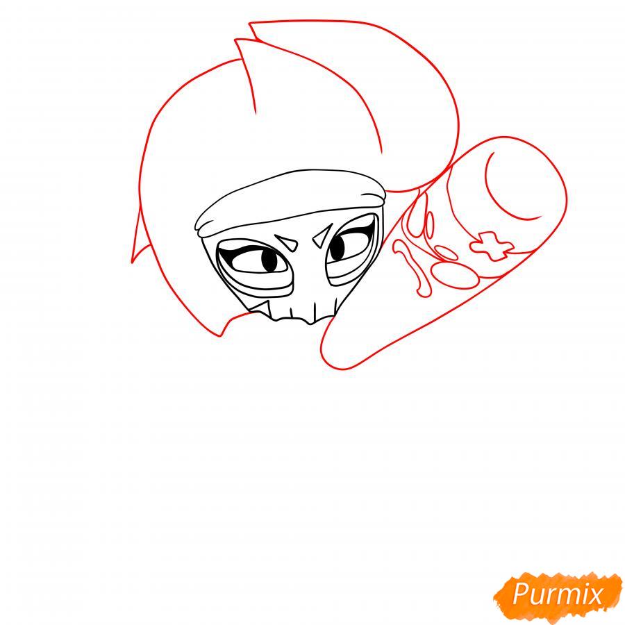 Рисуем Биби Мстительницу - шаг 2