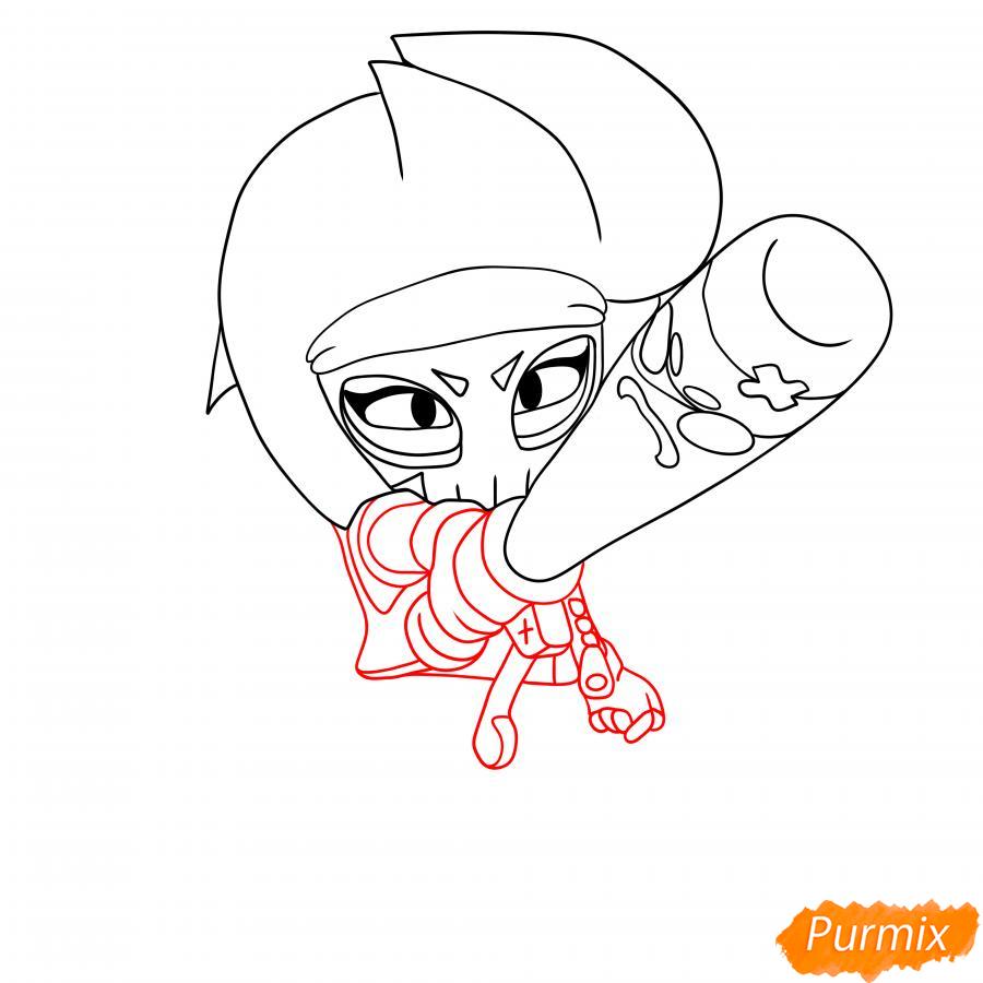 Рисуем Биби Мстительницу - шаг 3