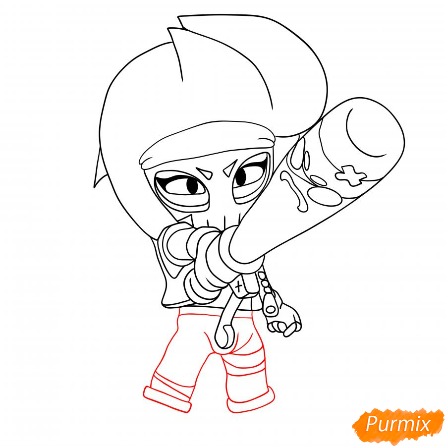 Рисуем Биби Мстительницу - шаг 4