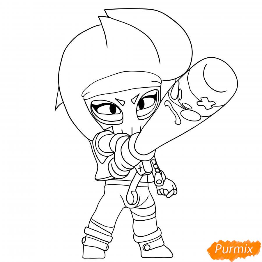 Рисуем Биби Мстительницу - шаг 6