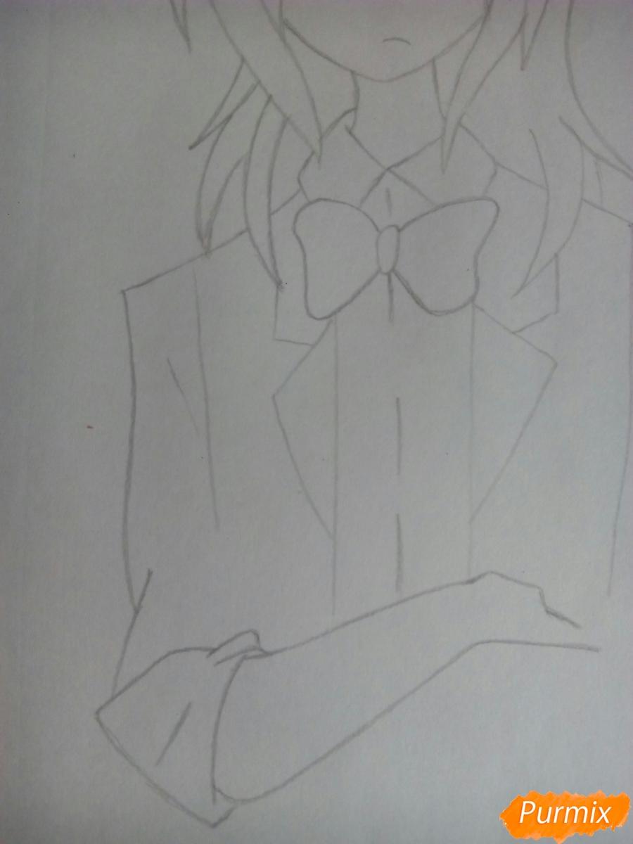 Рисуем Бонни в облике человека - шаг 6