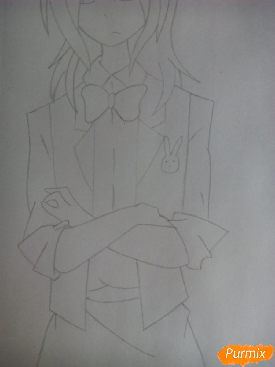 Рисуем Бонни в облике человека - шаг 7