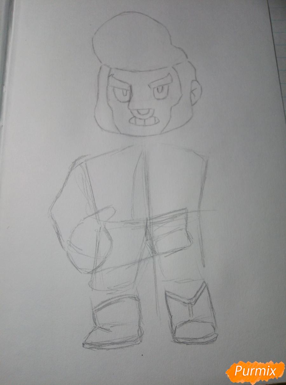 Рисуем Булла из Бравл Старс - шаг 4