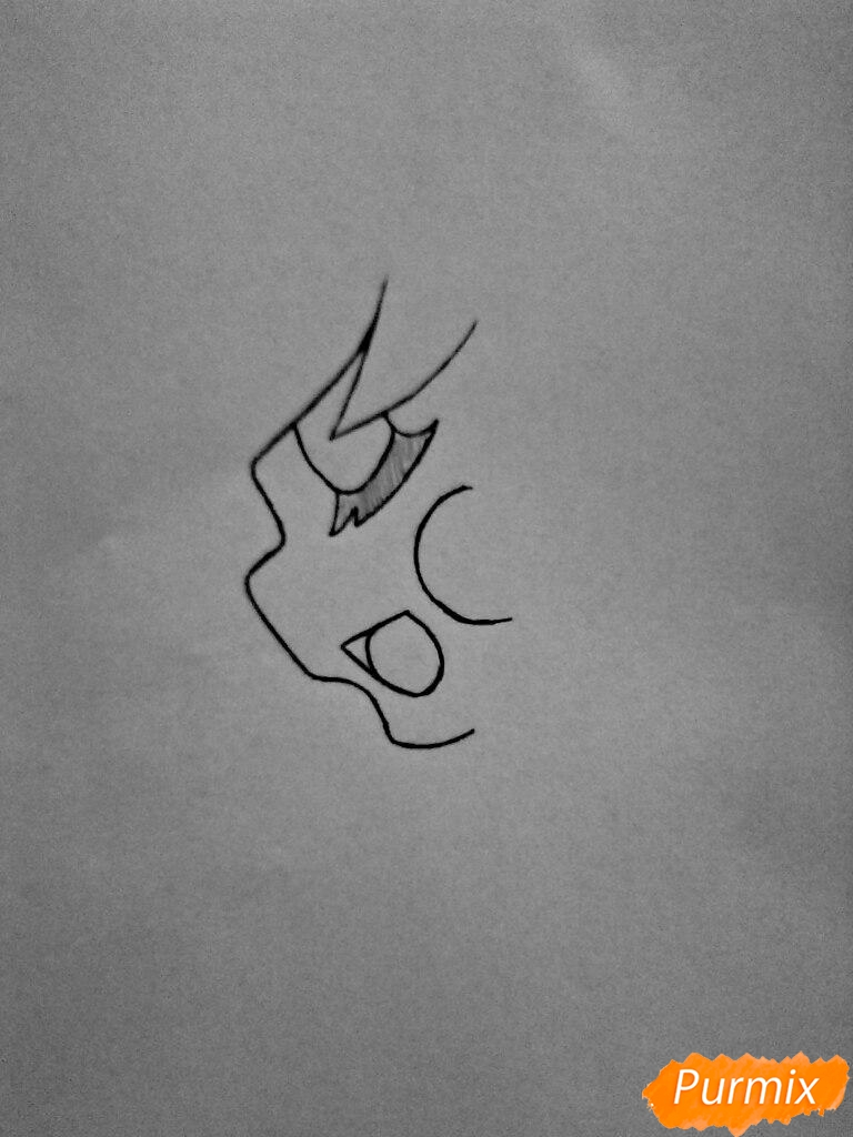 Рисуем Чику с наушниками в образе девушки - шаг 2