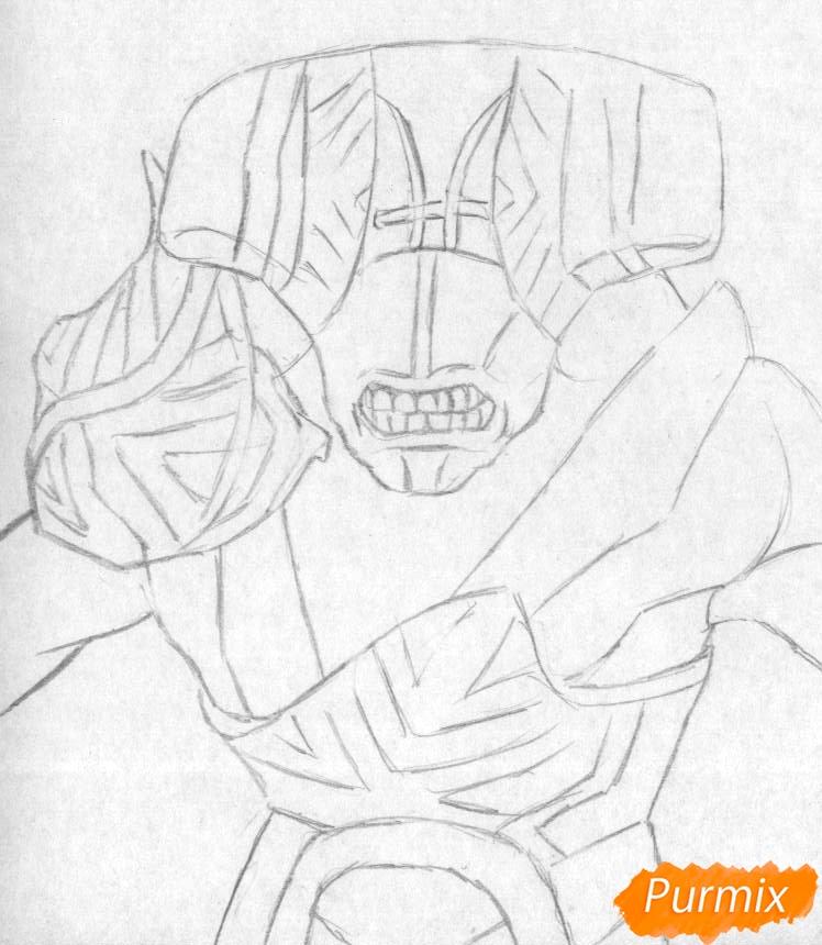 Рисуем героя Faceless Void из Dota 2 - шаг 1
