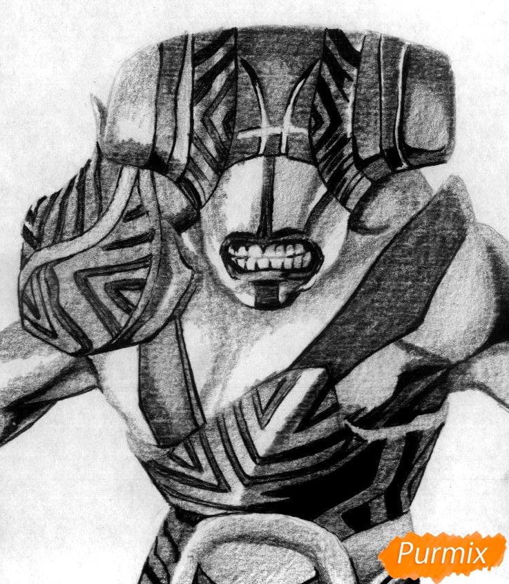 Рисуем героя Faceless Void из Dota 2 - шаг 4
