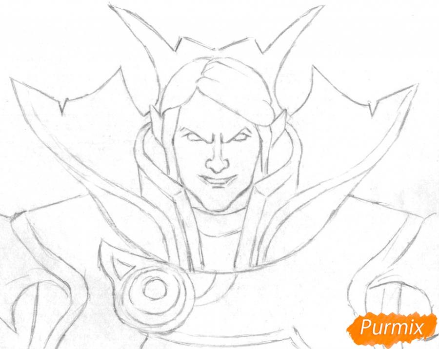 Рисуем героя Invoker из игры Dota 2 - шаг 1