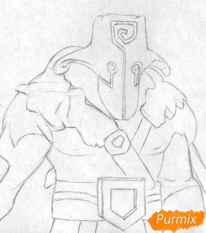 Рисуем героя Juggernaut из Dota 2 - шаг 1