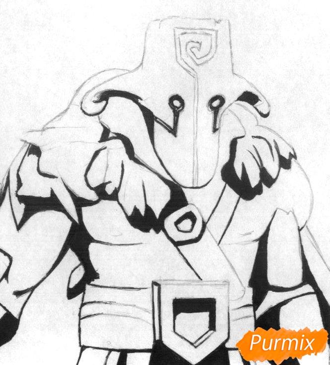 Рисуем героя Juggernaut из Dota 2 - шаг 2