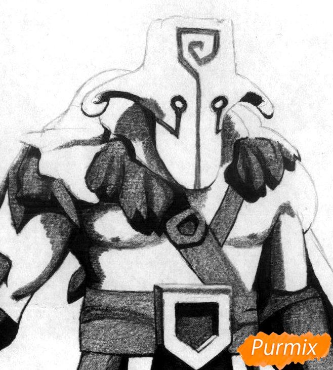 Рисуем героя Juggernaut из Dota 2 - шаг 3