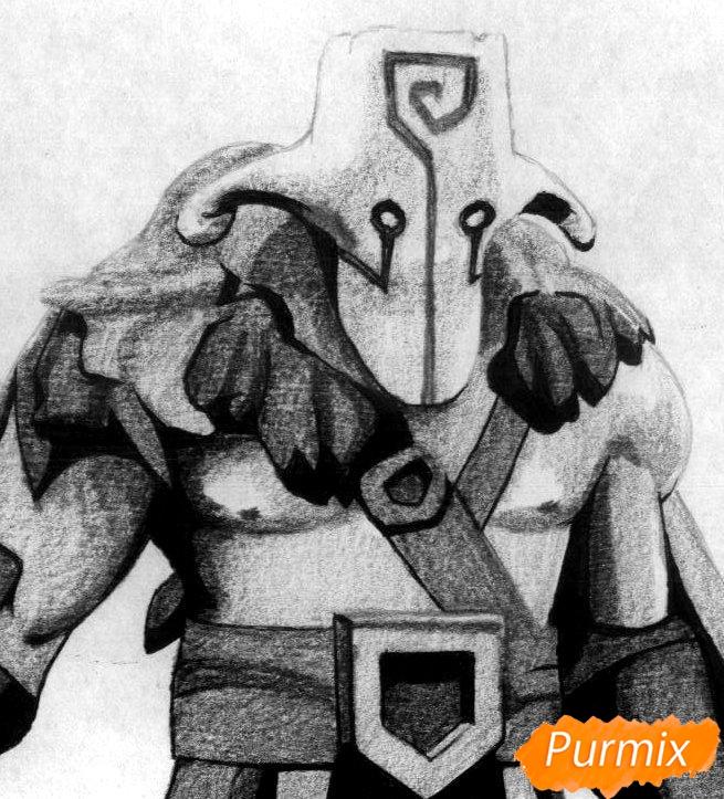 Рисуем героя Juggernaut из Dota 2 - шаг 4