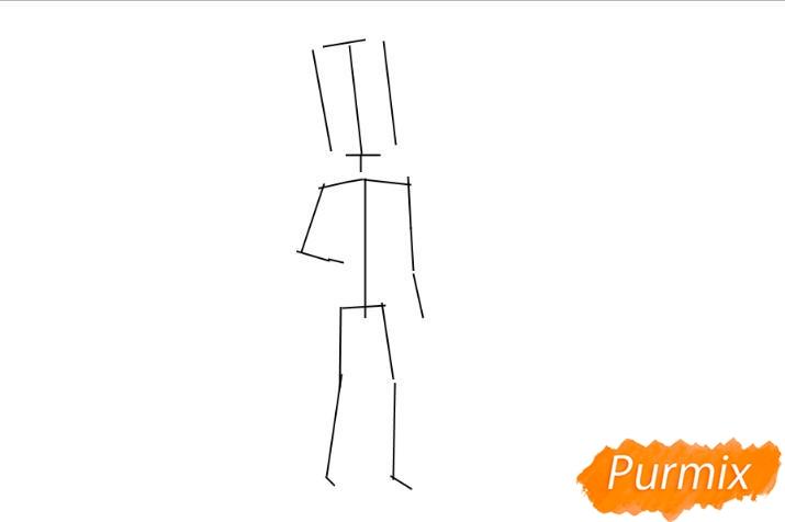 Рисуем главного героя из игры Hello Neighbour - шаг 2