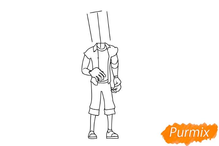 Рисуем главного героя из игры Hello Neighbour - шаг 3