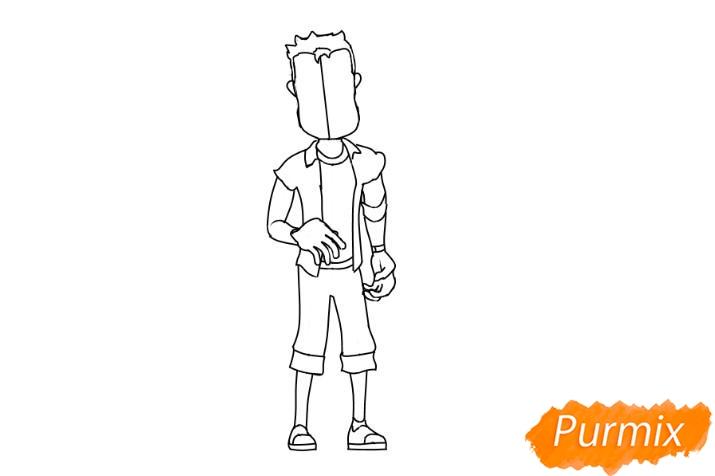 Рисуем главного героя из игры Hello Neighbour - шаг 4