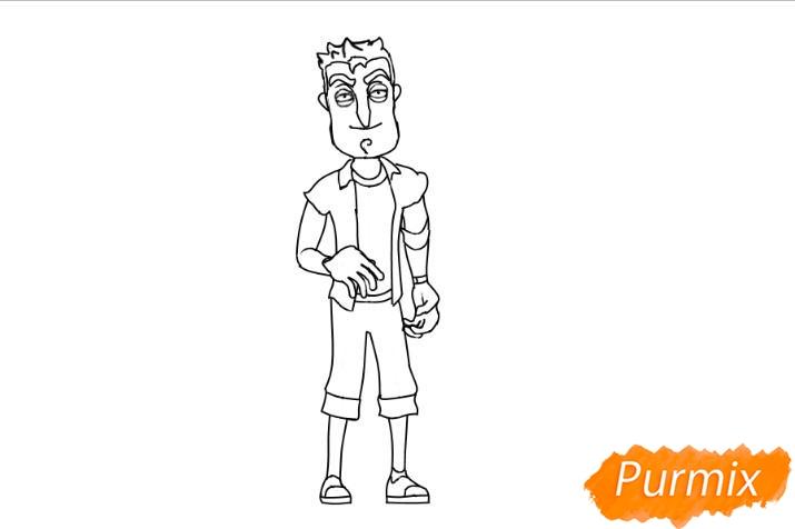 Рисуем главного героя из игры Hello Neighbour - шаг 5
