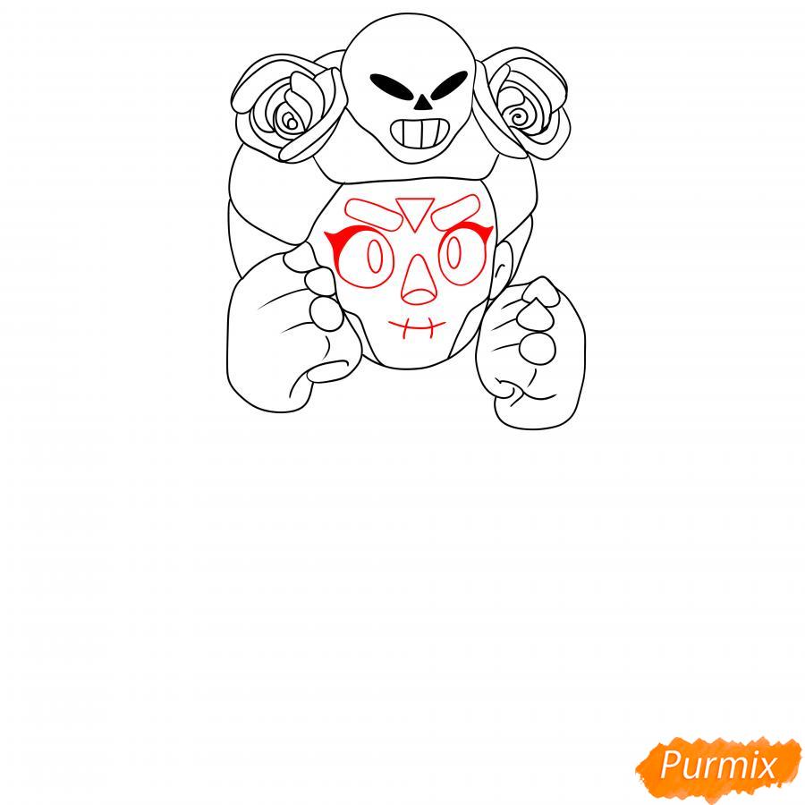 Рисуем хэллоуинскую Розу - шаг 3