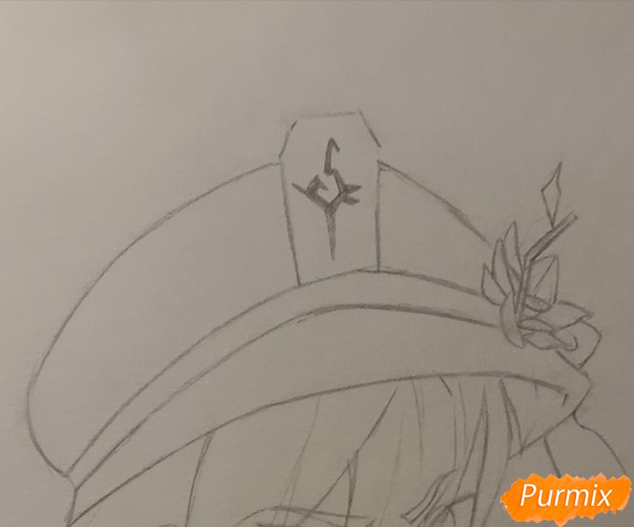 Рисуем Ху Тао из игры Genshin Impact - шаг 4