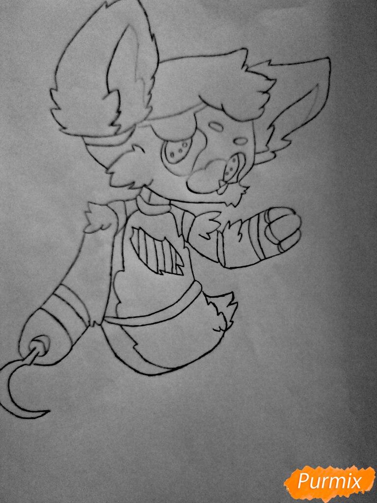 Рисуем и раскрасить маленького   Фокси - шаг 10