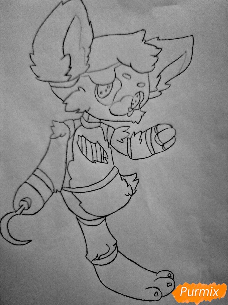 Рисуем и раскрасить маленького   Фокси - шаг 11