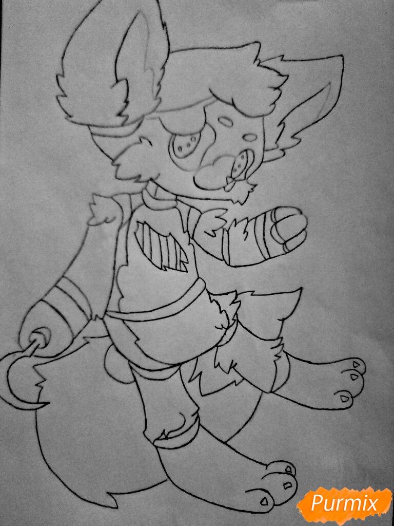 Рисуем и раскрасить маленького   Фокси - шаг 13