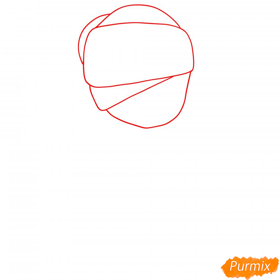 Рисуем Индиго Тару - шаг 1