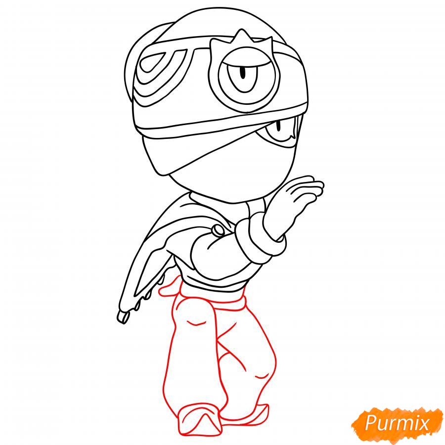 Рисуем Индиго Тару - шаг 4