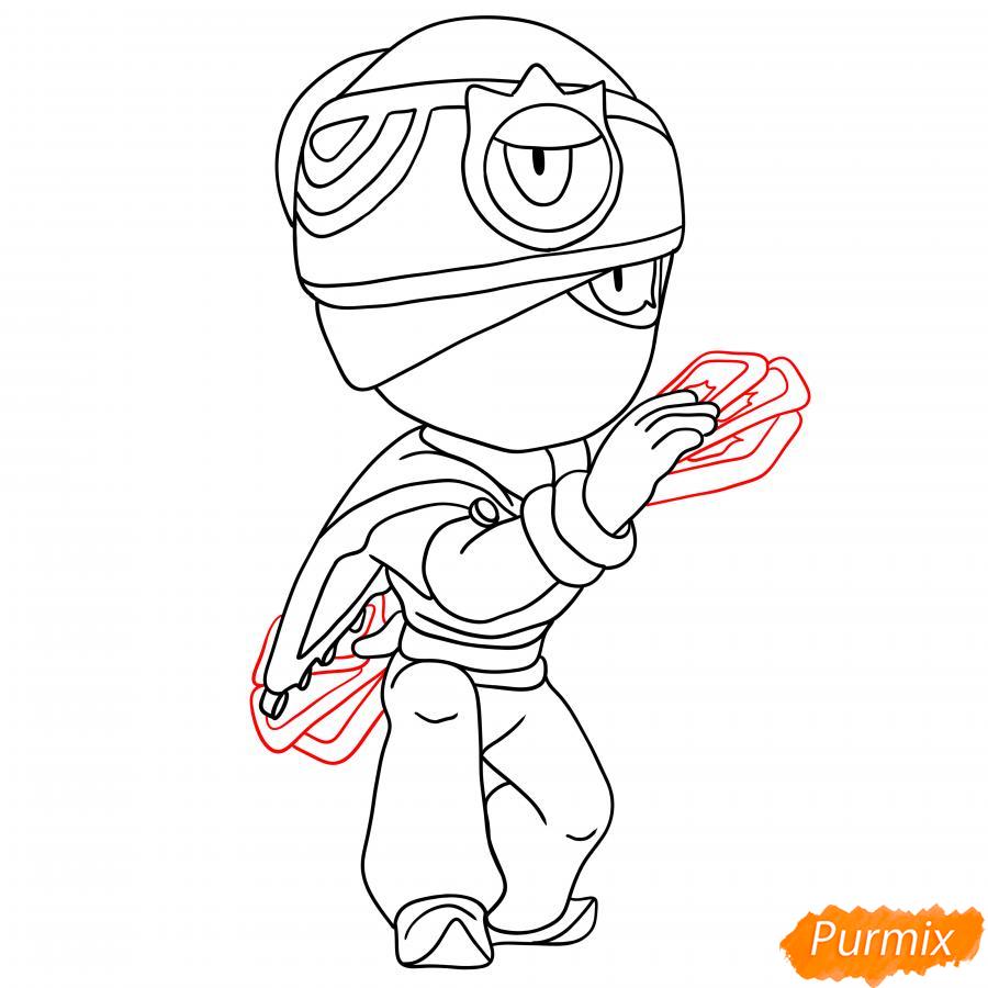 Рисуем Индиго Тару - шаг 5