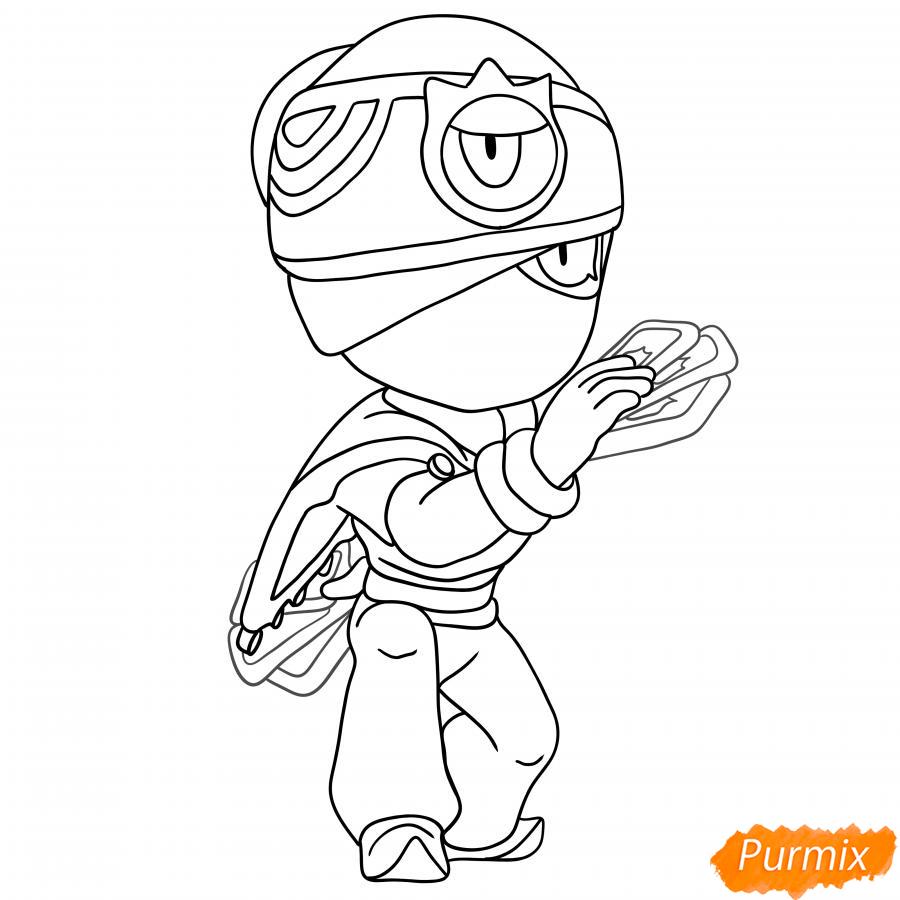 Рисуем Индиго Тару - шаг 6