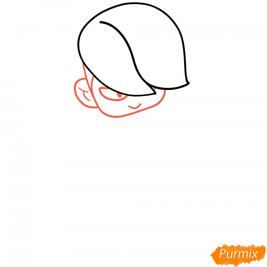 Рисуем Эдгара из Бравл Старс - шаг 2