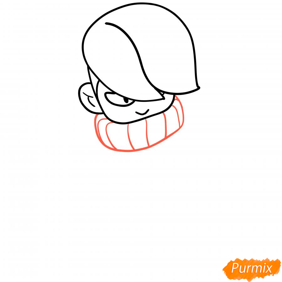 Рисуем Эдгара из Бравл Старс - шаг 3