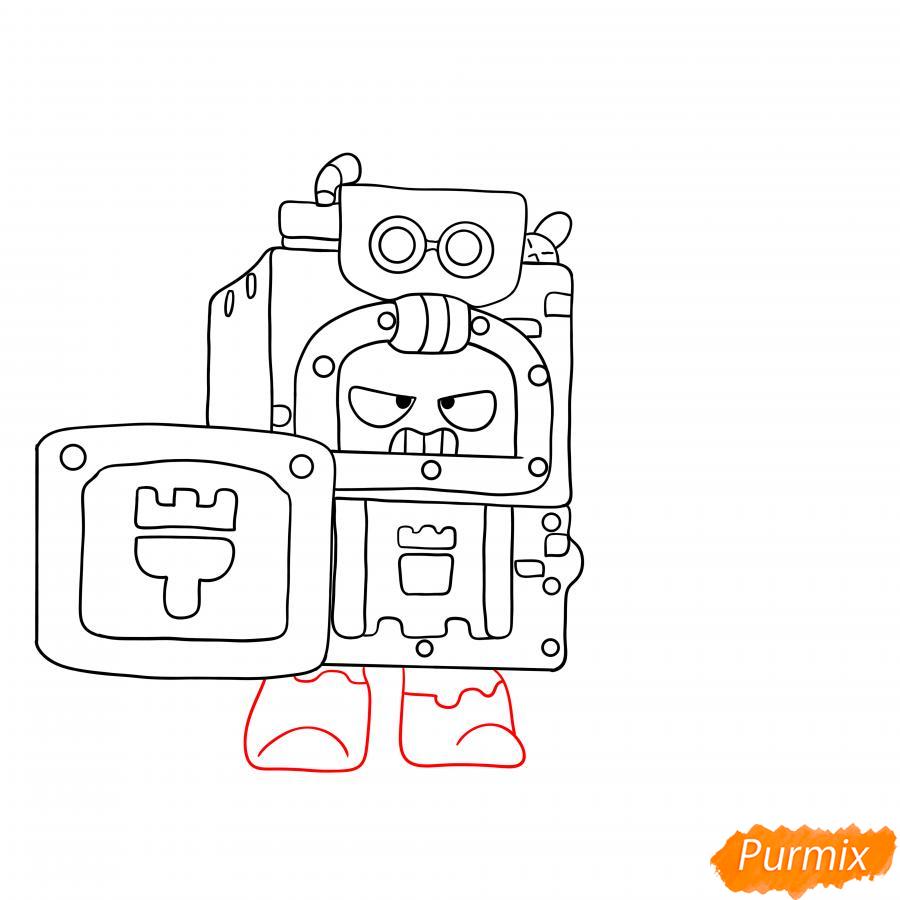 Рисуем Эша из Бравл Старс - шаг 4
