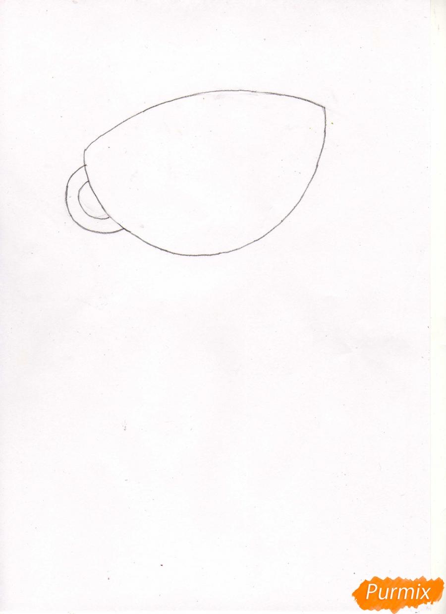 Рисуем персонажа Капхеда из игры Капхед - шаг 1